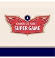 logo super game Sport logo Computer game vector image vector image
