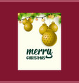 merry christmas star ball background vector image