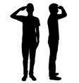 military salute vector image