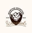 mountain adventure emblem logo template logo vector image vector image