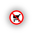 no shopping carts icon sign vector image vector image
