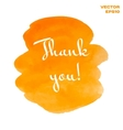 Orange and yellow watercolor hand painted shapes vector image