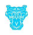 ornamental animal tattoo vector image