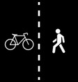 pedestrian bike trail vector image