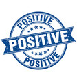 positive round grunge ribbon stamp vector image vector image