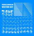 progress loading bar set indicators download vector image vector image