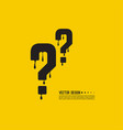 question mark icon with drops vector image