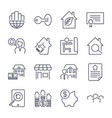 real estate icons on the white background deal vector image vector image