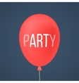 red ballon with white lettering party vector image vector image