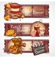 Retro cinema banners vector image vector image