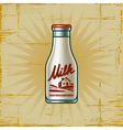 Retro Milk Bottle vector image