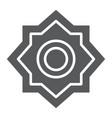 rub el hizb glyph icon arabian and symbol arabic vector image