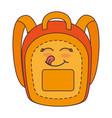 school bag comic character vector image