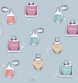 seamless pattern bottle perfume hand vector image vector image