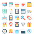 Shopping and E-Commerce Icons 1 vector image vector image