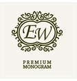 Stylish graceful monogram two letters vector image vector image
