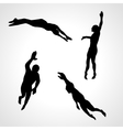 Swimmers Set of Silhouettes Sport vector image vector image