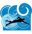 Swimming vector image vector image