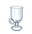 traditional mug for irish coffee empty vector image vector image