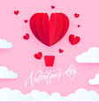 valentine heart air ballon for valentines day vector image