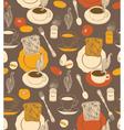 Vintage tea time background vector image vector image