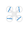 white quadrocopter view from above vector image vector image