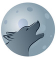 wolf with moon vector image