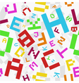 colored letters seamless vector image