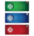 Three Belarus vertical banners with traditional st vector image