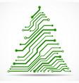 abstract technology christmas tree circuit board vector image vector image
