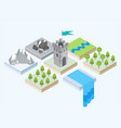 an isometric view of a tower and the surroundings vector image vector image