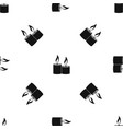 aromatic candles pattern seamless black vector image