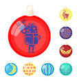 balls for decoration cartoon icons in set vector image