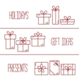 banners with thin line icons gift boxes vector image vector image