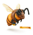 bee bumblebee 3d cartoon icon plasticine art vector image