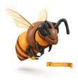 bee bumblebee 3d cartoon icon plasticine art vector image vector image