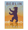 berlin vintage poster vector image vector image