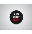 Black Friday sale black tag round banner vector image