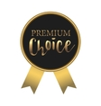 Black premium choice label simple style vector image vector image