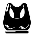 brassiere sport icon simple black style vector image vector image