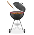 brazier for barbecue 03 vector image