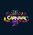 brazilian traditional carnival concept abstract vector image