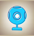 chat web camera sign sky blue icon with vector image vector image