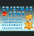 christmas font vector image vector image