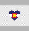 colorado flag state heart love vector image vector image