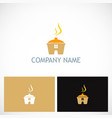 cook house food logo vector image vector image