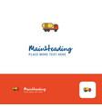 creative tanker truck logo design flat color logo vector image