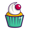 cupcake icon cartoon style vector image