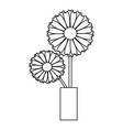 cute drawing sunflower vector image