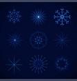 decorative crystal snowflakes set - vector image vector image